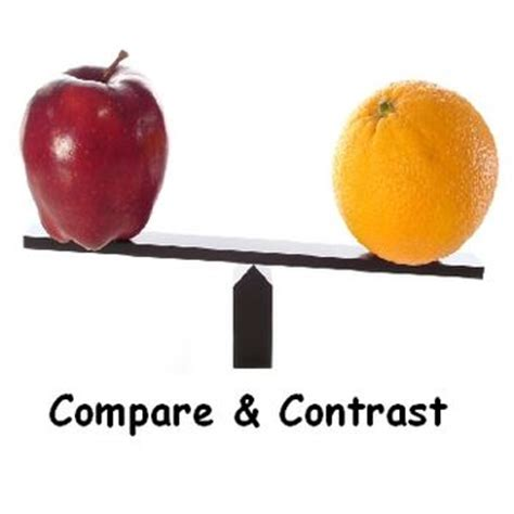 Ideas for compare and contrast essays